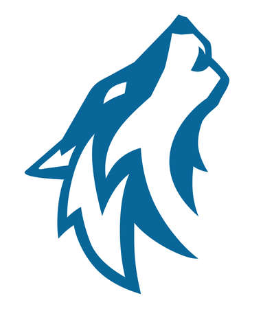 wolf blue vector