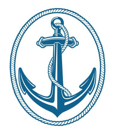 blue anchore rope Illustration