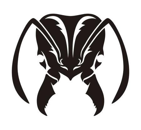 Konstrukcja wektora czarny mrówki głowy Ilustracje wektorowe