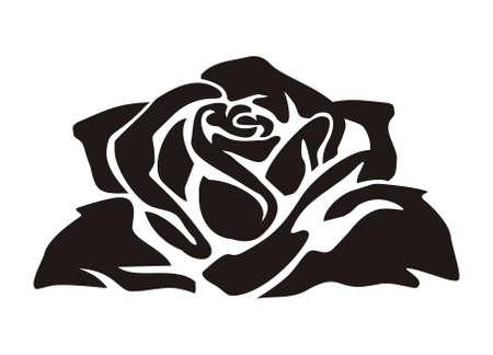 rosas negras: vector de diseño abstracto rosas negras