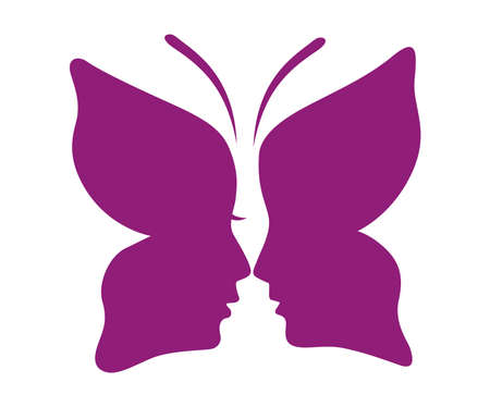 butterfly: design butterfly face shape men and women