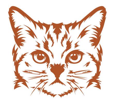 cat head: design vector cat head