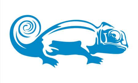 Chameleon vector design Illustration