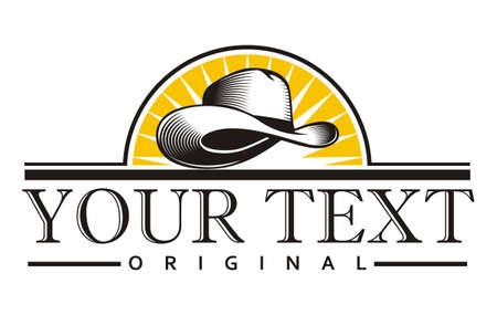 Ontwerp vintage cowboyhoed