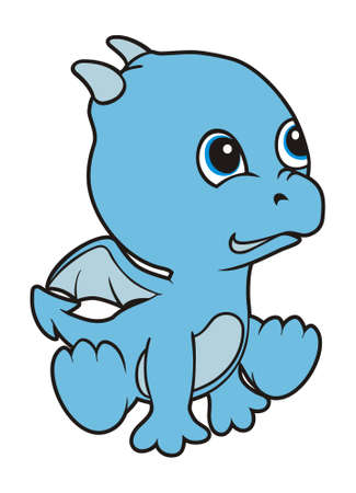 baby dragon: vector design baby dragon cartoon characters Illustration