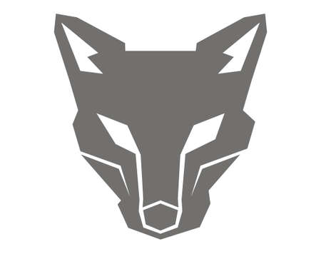 design vector wolf head robot