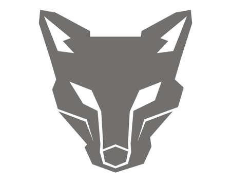 design vector wolf head robot