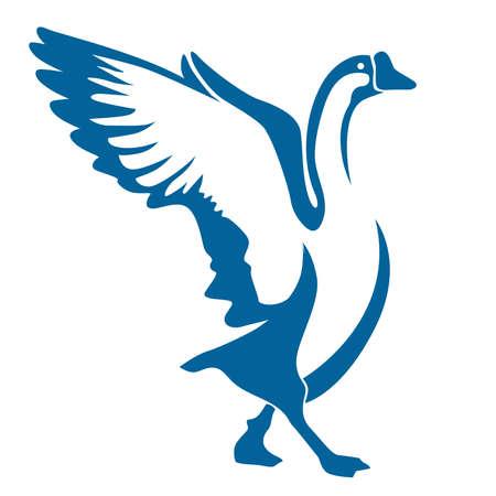 ocas: diseño del vector del ganso