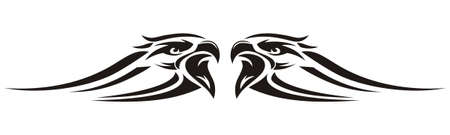 vector design eagle's head striping Vector Illustration