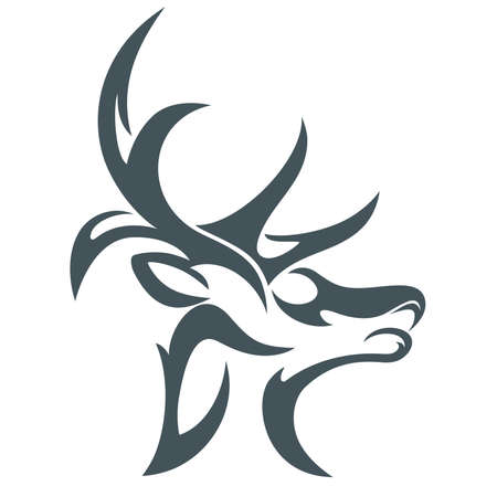 animal heads: design abstract vector deer head Illustration