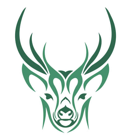 design abstract vector deer head Иллюстрация