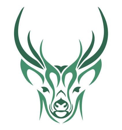 design abstract vector deer head Illustration