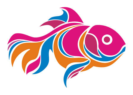 design vector goldfish abstract