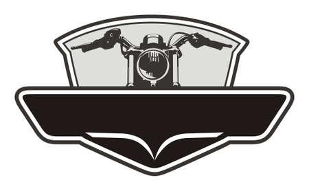 motorcycle emblem design simple Illustration
