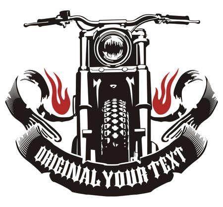 motorcycle ribbon flame