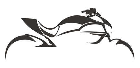 MOTORSPORT COOL silhouetontwerp Vector Illustratie