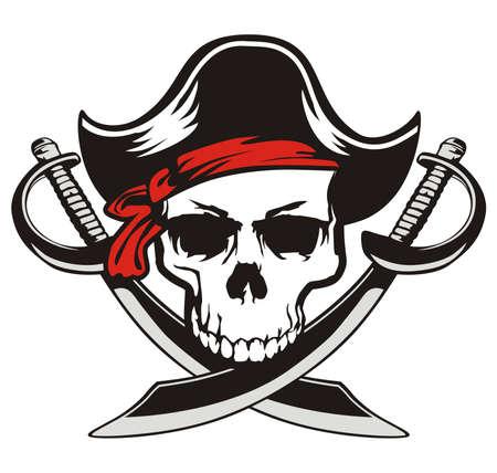 skull pirate sword 向量圖像