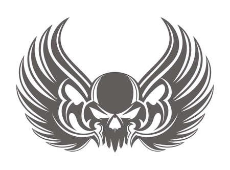 skull wing simple