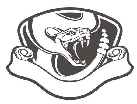 emblema de serpiente de cascabel