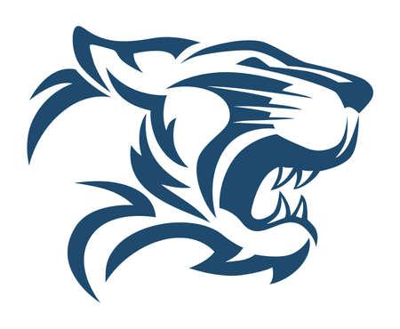 tiger head abstract Illustration