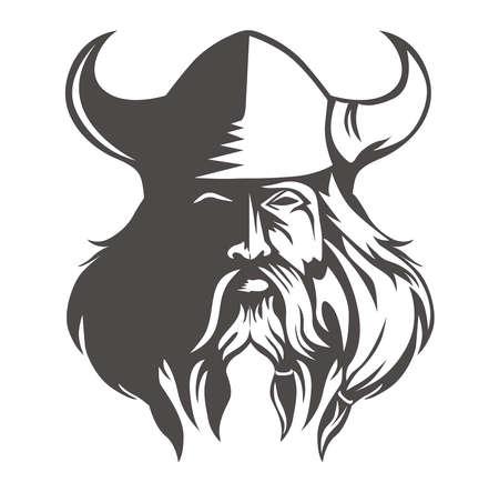head viking Vectores