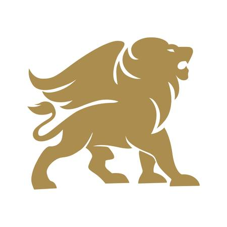Lion winged gold