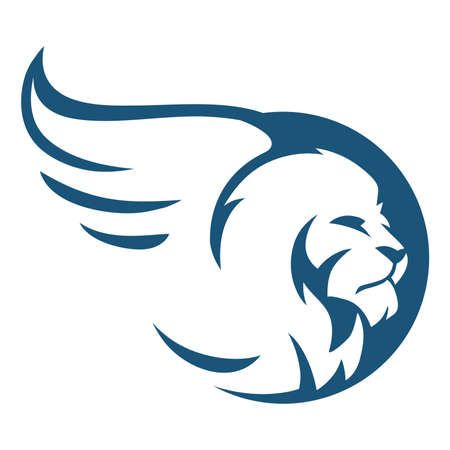 lion head winged