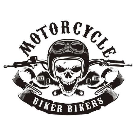 Guidon de moto Skull