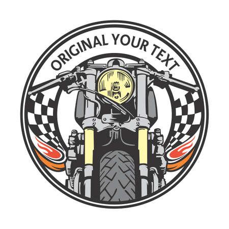cafe racer emblem circle