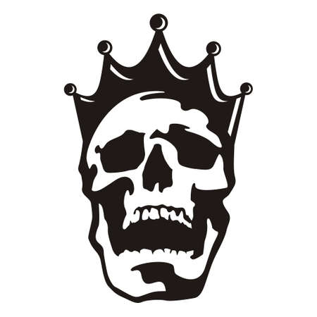 Skull head king Stock Vector - 109133997