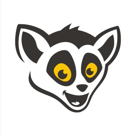 Head Lemur Cartoon Illustration