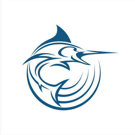 Marlin fish signal 向量圖像