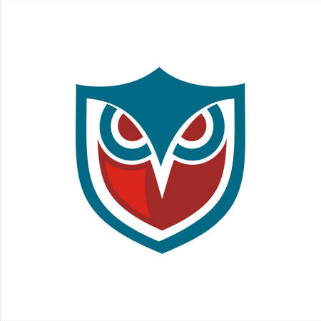 owl shield blue and red