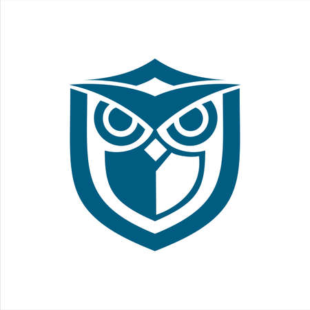owl shield blue