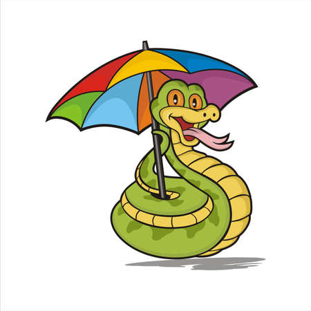 Snake Cartoon umbrella