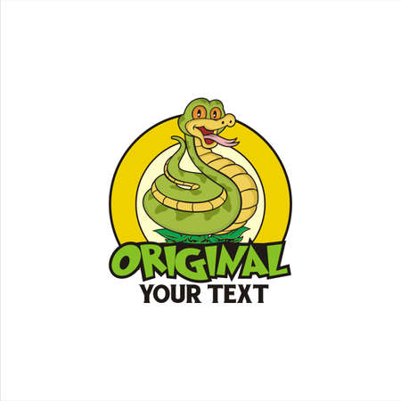 Snake Cartoon Vintage 向量圖像