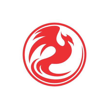 Phoenix red circle Иллюстрация
