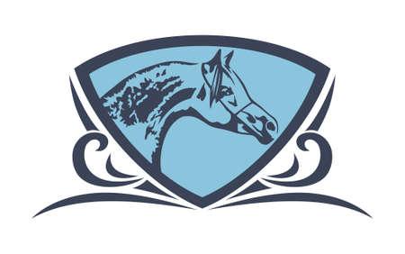 Head horse shield vintage