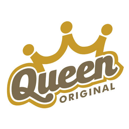 Queen crown typography