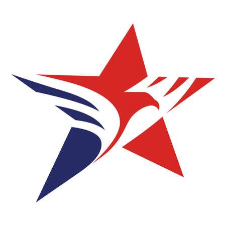 Star eagle american flag