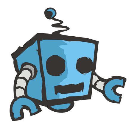 Blue box robot