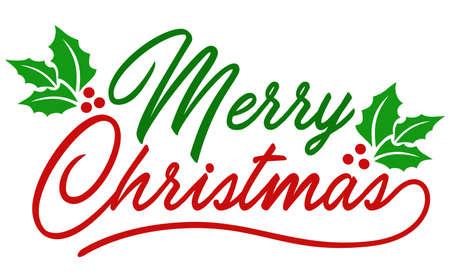 Merry Christmas handwriting text