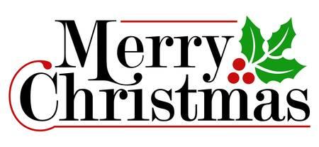 Merry Christmas Luxury Text