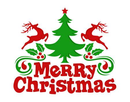 Christmas tree and deer