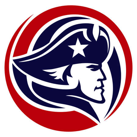 patriot circle red and blue Illustration