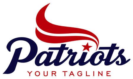 Patriot Typography Illustration