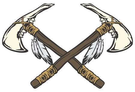 Tomahawk cross Illustration