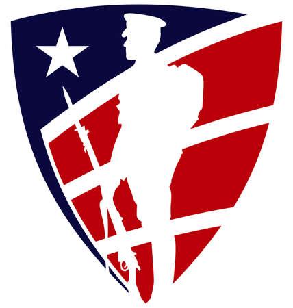 Veteran shield Illustration
