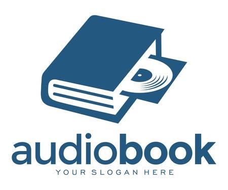 audio book open disc Illustration