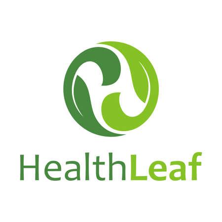Leaf Letter H and typography Illustration
